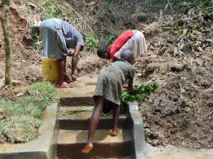 The Water Project:  Cleaning The Springs Access Area