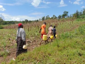 The Water Project:  Carrying Water Home Through A Farm