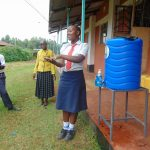The Water Project: Ikumba Secondary School -  Leading Handwashing Practice