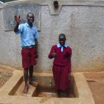 The Water Project: Namalasire Primary School -  Students Janet Makokha And Elius Kasim