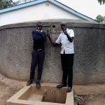 The Water Project: Essaba Secondary School -  Student With Field Officer Wilson Kipchoge