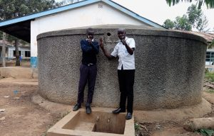 The Water Project:  Student With Field Officer Wilson Kipchoge