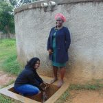 The Water Project: Shikhondi Girls Secondary School -  Sanitation Teacher Mrs Conjesta Mutanyi Right With Field Officer Laura Alulu