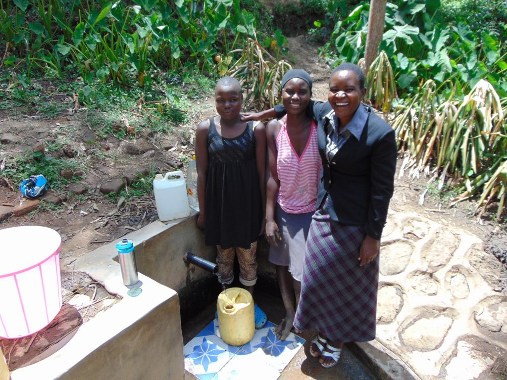 The Water Project : 2-kenya18085-sheila-marion-and-field-officer-rose-serete