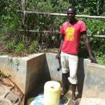 The Water Project: Elukani Community, Ongari Spring -  Kevin Eshiwani