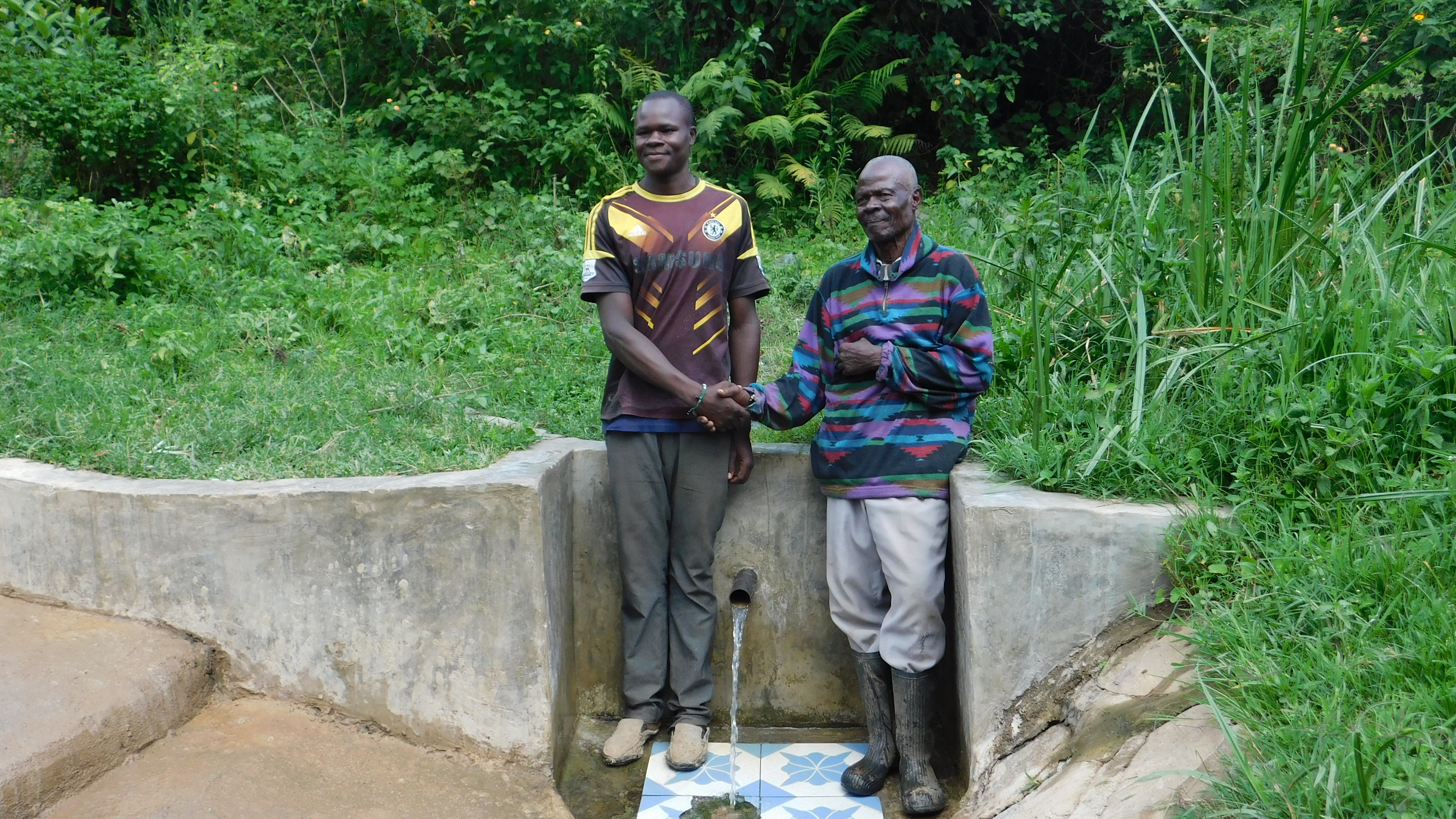 The Water Project : 2-kenya18100-william-okello-left-and-john-madara-right