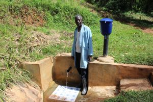 The Water Project:  Mr Samuel Wangwa