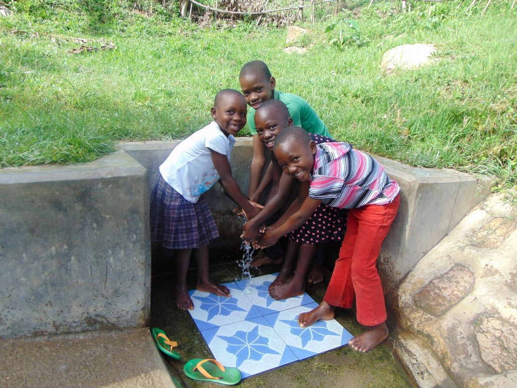 The Water Project : 2-kenya18113-happy-kids-joy-maurine-mike-and-bella