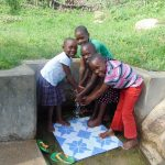 The Water Project: Ejinja Community, Anekha Spring -  Happy Kids Joy Maurine Mike And Bella