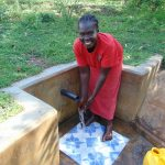 The Water Project: Mbande Community, Handa Spring -  Mrs Sarah Wamalwa