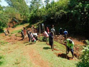 The Water Project:  Community Fences Off The Area