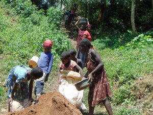 The Water Project:  Women And Children Deliver Sand