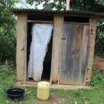 The Water Project: Kalenda B Community, Lumbasi Spring -  Bathroom And Toilet Shelter