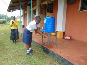 The Water Project:  Handwashing Station In Use