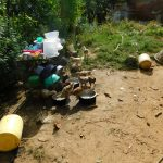The Water Project: Emurumba Community, Makokha Spring -  Chickens Take A Drink