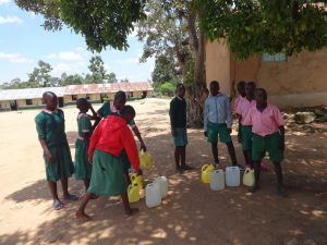 The Water Project:  Water Collection Point At School