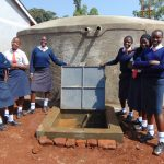 The Water Project: Ikumba Secondary School -  Girls With Finished Tank