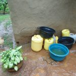 The Water Project: Namarambi Community, Iddi Spring -  Water Stored For Domestic Use