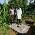 The Water Project: Shihingo Community, Inzuka Spring -  New Sanitation Platform Owners