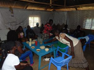 The Water Project:  Community Members And Field Officers Share A Meal As Thanks