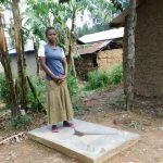 The Water Project: Shihingo Community, Inzuka Spring -  New Sanitation Platform Owner