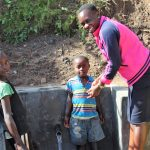 The Water Project: Eshikhugula Community, Shaban Opuka Spring -  Field Officer And Kids