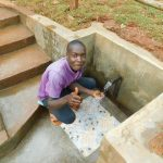 The Water Project: Mutao Community, Kenya Spring -  Thumbs Up For Kenya Spring