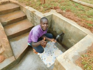 The Water Project:  Thumbs Up For Kenya Spring