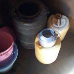 The Water Project: Sambaka Community, Sambaka Spring -  Plastic Water Storage