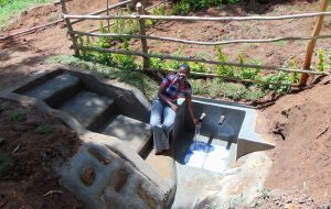 The Water Project:  Field Officer Jemmimah Feels The Fresh Water