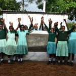 The Water Project: Makunga Primary School -  Girls At Their Vip Latrine