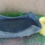 The Water Project: Mukangu Community, Metah Spring -  Trough Used To Collect Rain Water