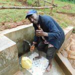 The Water Project: Mutao Community, Kenya Spring -  Thumbs Up At Kenya Spring