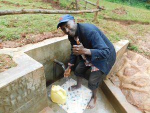 The Water Project:  Thumbs Up At Kenya Spring