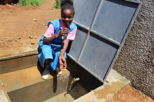 The Water Project:  Student Gets A Drink
