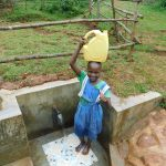 The Water Project: Mutao Community, Kenya Spring -  All Filled Up And Ready To Go