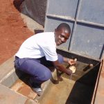 The Water Project: Ikumba Secondary School -  Getting A Drink