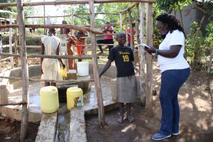 The Water Project:  Field Officer Terry Interviews Margaret