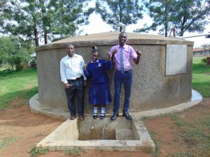 The Water Project:  Principal Ongeri With Phelistus And Other Student
