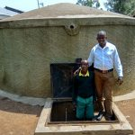 The Water Project: Jidereri Primary School -  Abraham With Field Officer Jonathan Mutai