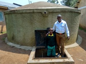 The Water Project:  Abraham With Field Officer Jonathan Mutai