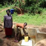 The Water Project: Wasenje Community, Margaret Jumba Spring -  Margaret With Faith Lumanye Jumba