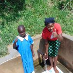 The Water Project: Mwituwa Community, Shikunyi Spring -  Christine And Margaret