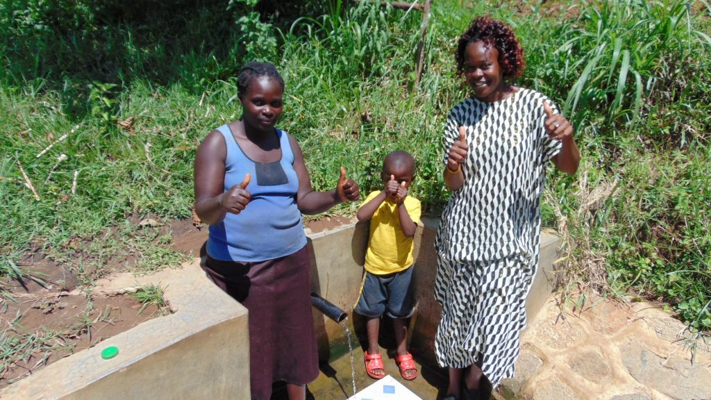 The Water Project : 3-kenya18109-grace-brevin-and-field-officer-lillian-achieng