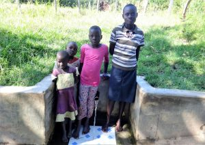 The Water Project:  Rael On Right With Other Children