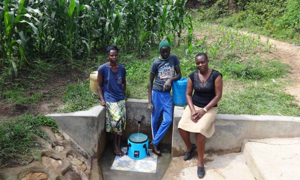 The Water Project : 3-kenya18112-beatrice-agatious-and-field-officer-mary-afandi
