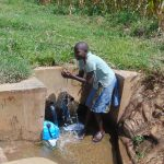 The Water Project: Burachu B Community, Shitende Spring -  Lucy Goes For A Splash