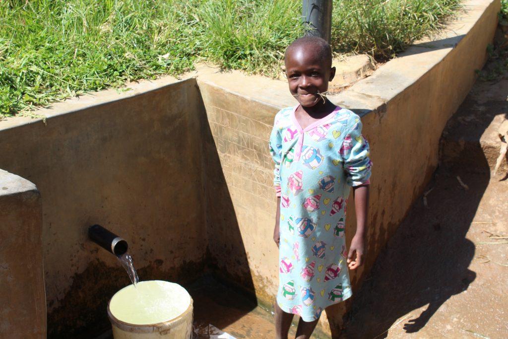 The Water Project : 3-kenya18117-girl-at-spring