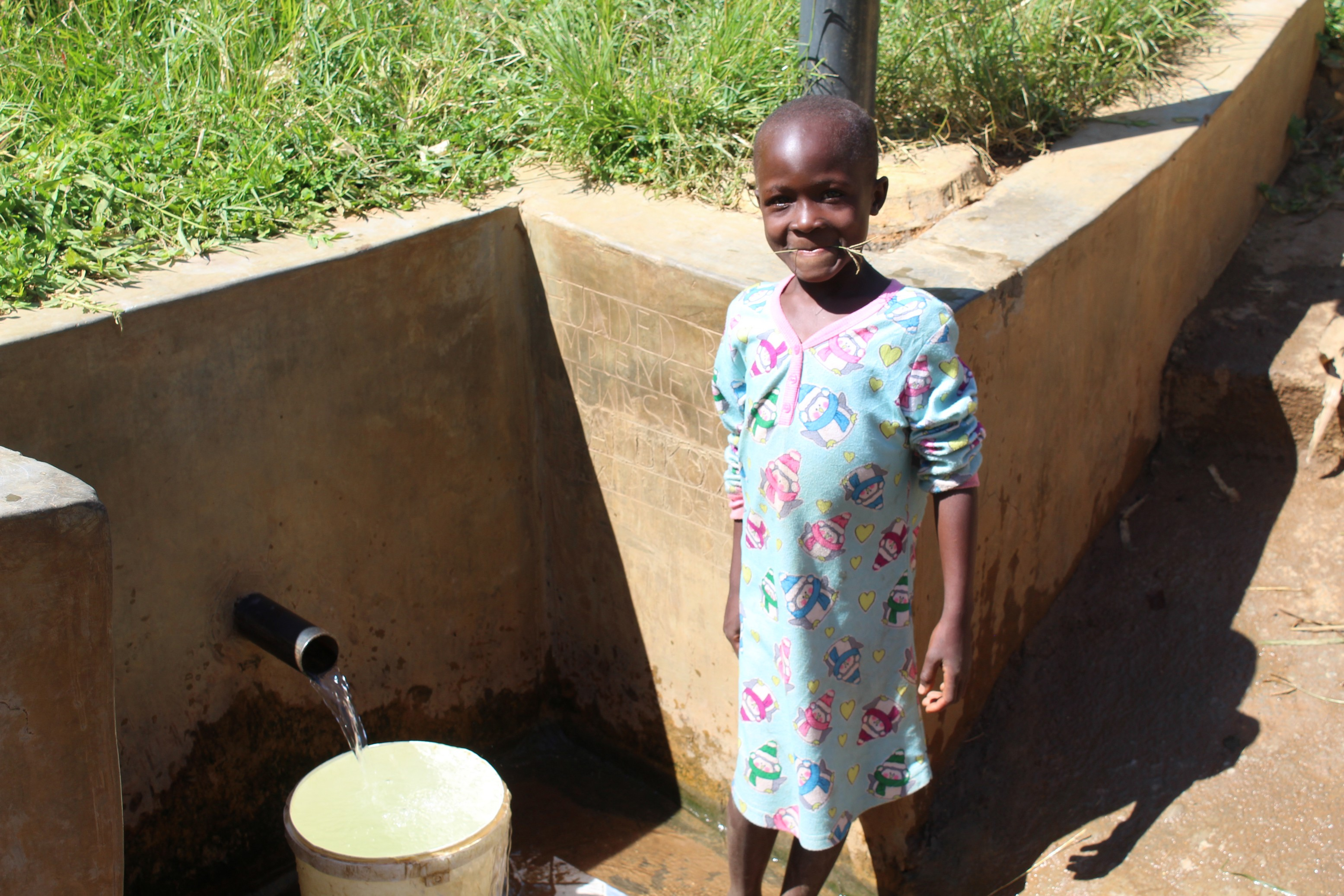 The Water Project : 3-kenya18117-girl-at-spring