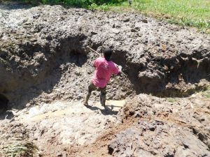 The Water Project:  Young Boy Helps Excavate